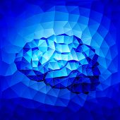 foto of neurotransmitter  - Blue brain consist of triangles - JPG