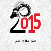pic of ram  - Chinese symbol vector goat 2015 year illustration image design - JPG