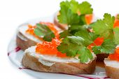 pic of collate  - Toast with red caviar butter and parsley - JPG