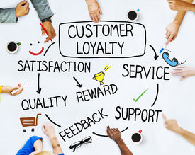 picture of loyalty  - Group of People and Customer Loyalty Concepts - JPG