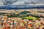 picture of olympian  - Aerial view of Athens with the Temple of Olympian Zeus - JPG