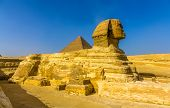 foto of the great pyramids  - The Great Sphinx and the Great Pyramid of Giza - JPG