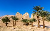 picture of ramses  - View of the mortuary Temple of Ramses III near Luxor in Egypt - JPG