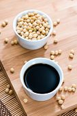 pic of soya beans  - Soy Sauce in a bowl  - JPG