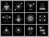 image of star shape  - Futuristic Geometric Hipster Elements and Logos - JPG