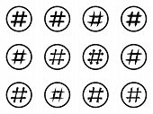 stock photo of hashtag  - Icon Set of hashtags - JPG