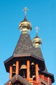Постер, плакат: Orthodox Russian And Ukrainian Wooden Church In Kharkov