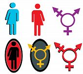 picture of intersex  - A set of transgender icons and symbols - JPG