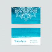 picture of aquamarine  - Business cards templates - JPG