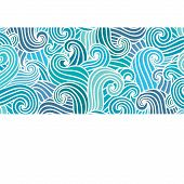 picture of aquamarine  - Hand drawn wavy modern background - JPG