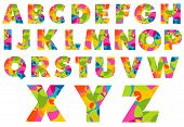 picture of alphabet  - Alphabet Colorful Letters - JPG