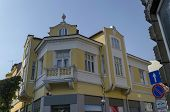foto of corbel  - Old renovated building in Ruse town, Bulgaria