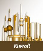 picture of kuwait  - City of Kuwait Famous Buildings - JPG