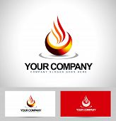 stock photo of flame  - Fire Flames Abstract Logo Design - JPG