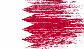stock photo of bahrain  - Flag of Bahrain with old texture - JPG
