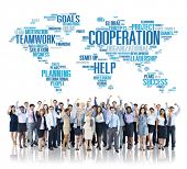 foto of coworkers  - Cooperation Business Coworker Planning Teamwork Concept - JPG