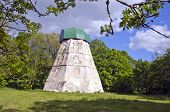 stock photo of manor  - old historical windmill ruins in manor park - JPG