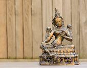 pic of compassion  - Golden statue representing Tara - JPG