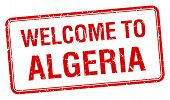 picture of algeria  - welcome to Algeria red grunge square stamp - JPG