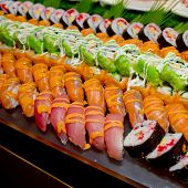 picture of buffet catering  - Japanese Cuisine  - JPG