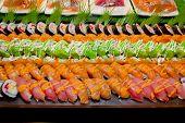 foto of buffet catering  - Closeup Japanese Cuisine  - JPG