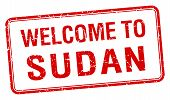 image of sudan  - welcome to Sudan red grunge square stamp - JPG
