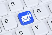 Постер, плакат: Sending Encrypted E mail Protection Secure Mail Via Internet