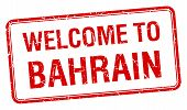 stock photo of bahrain  - welcome to Bahrain red grunge square stamp - JPG