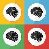 stock photo of hemorrhage  - Brain icon  - JPG