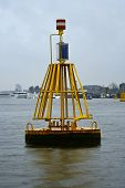 Yellow  Bell Buoy  poster