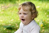 picture of yawn  - Image of beautiful cute Cute yawning infant girl - JPG