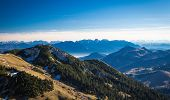image of bavarian alps  - View from Wendelstein into the Bavarian and Austrian Alps - JPG