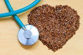 picture of flax seed  - Diet healthcare and checkup concept - JPG