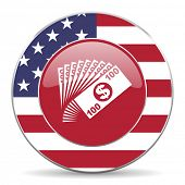 stock photo of american money  - money american icon original modern design for web and mobile app on white background  - JPG