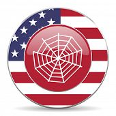 image of spider web  - spider web american icon original modern design for web and mobile app on white background  - JPG