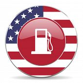 picture of petrol  - petrol american icon original modern design for web and mobile app on white background  - JPG