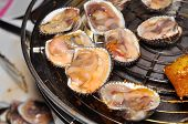 pic of pry  - Shell steaks on the grill in restaurant - JPG