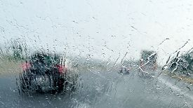 stock photo of heavy  - Bad Weather Driving  - JPG