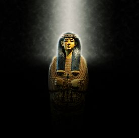 stock photo of life after death  - Egyptian Pharaoh Coffin - JPG