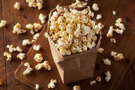 foto of sweet-corn  - Homemade Kettle Corn Popcorn in a Bag - JPG