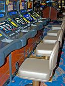 image of poker machine  - video poker machines waiting for players to start playing gamble fun - JPG