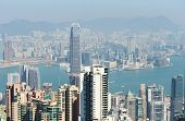 Hong Kong cityscape. No brand names or copyright objects. poster