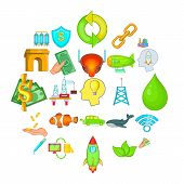 Ecology Care Icons Set. Cartoon Set Of 25 Ecology Care Vector Icons For Web Isolated On White Backgr poster