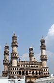 image of charminar  - 400 year old historic monument in hyderabad - JPG