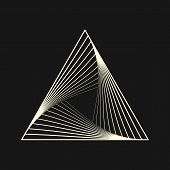 Sacred Geometry. Graphic Linear Triangle. Triangular Symbol Of Life. Secret Symbol Of Geometry. Alch poster