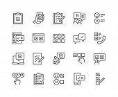 Simple Set Of Survey Related Vector Line Icons. Contains Such Icons As Emotional Opinion, Rating, Ch poster