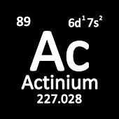 Periodic Table Element Actinium Icon On White Background. Vector Illustration. poster