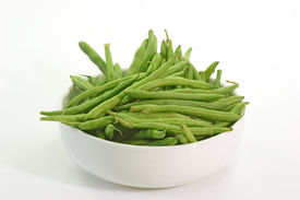 pic of green bean  - Green Beans in bowl with white background Picture shot in Studio - JPG