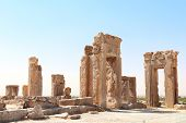 Ruins of Tachara Palace built by Darius the Great, Persepolis,  Iran. UNESCO world heritage site poster