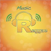 foto of reggae  - Illustration with a word Reggae music logo - JPG